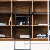 FIELDWORK フィールドワーク 伊那市 住宅 夫婦 40坪 2015年 ダイニング アイアン スチール 鉄 ハシゴ 本棚